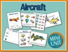 Free Aircraft Printables for PreK-K (Disney Planes Inspired)