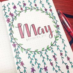 Spring is in the air and here to inspire your bujo obsession are 101 May cover page ideas you're going to love! is in the air 101 Pretty May Bullet Journal Cover Page Ideas - Bliss Degree Bullet Journal 2018, Bullet Journal Cover Page, Bullet Journal Spread, Bullet Journal Inspo, Bullet Journal Layout, Journal Covers, Bullet Journal For School, Bullet Journal Inspiration Creative, Bullet Journal Ideas Handwriting