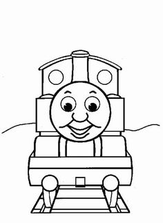 Free Online Printable Kids Colouring Pages Train On Bridge