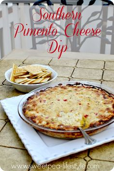 Southern Pimento Cheese Dip - OMG. So yummy! the perfect party dish. Simple Southern Pimento Cheese made into a hot dip. #food #snacks #cheese