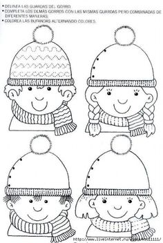 Crafts,Actvities and Worksheets for Preschool,Toddler and Kindergarten.Lots of worksheets and coloring pages. Winter Crafts For Kids, Winter Kids, Winter Art, Winter Christmas, Kids Crafts, Preschool Learning Activities, Winter Activities, Winter Thema, Drawing For Kids