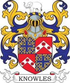 Knowles Family Crest and Coat of Arms