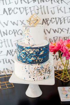 Jackson Pollock Inspired Wedding Editorial