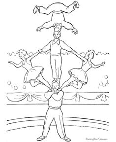 acrobat coloring pages - photo#36