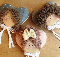 Best 12 Hand made Personalized Gifts – Puppet – Wedding Favors, Baby Favors, Dolls … Felt Animal Patterns, Stuffed Animal Patterns, Hobbies And Crafts, Diy And Crafts, Fabric Brooch, Baby Favors, Angel Crafts, Free To Use Images, Country Paintings