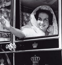 Queen Sofia on her wedding day