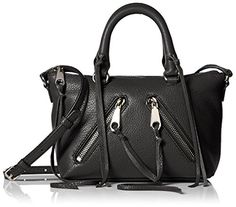 Rebecca Minkoff Micro Moto Satchel, Black * See this awesome product @ http://www.amazon.com/gp/product/B01B4Q4QNK/?tag=clothing8888-20&pfg=020816091556