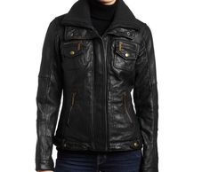 classic women leather jackets for women.