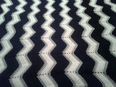 Ripple crochet blanket.