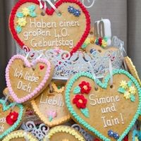Based on traditional Bavarian cookies for friends joint Oktoberfest 40th!