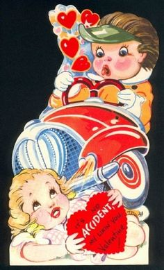 I'm thinking this was no accident. 27 Weird And Creepy Vintage Valentine's Day Cards My Funny Valentine, Valentine Theme, Vintage Valentine Cards, Vintage Greeting Cards, Valentine Day Cards, Happy Valentines Day, Valentine Stuff, Valentine Images, Kids Valentines