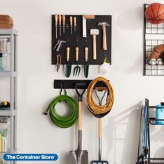 Give your garage the love it deserves--shop our garage storage and organization solutions here! Garage Storage Systems, Storage Hooks, Small Space Organization, Garage Organization, Ski Rack, Reach In Closet, Custom Garages, Garage Shelving, Container Store