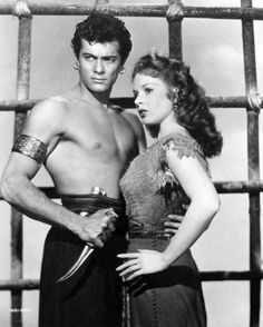 THE PRINCE WHO WAS A THIEF (1951) - Tony Curtis & Piper Laurie - Based on novel by Theodore Dreiser - Directed by Rudolph Matte' - Universal-International - Publicity Still.