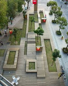 Project - Kic Park - Architizer I love this idea for an urban park. Landscape And Urbanism, Landscape Architecture Design, Urban Architecture, Urban Landscape, Amazing Architecture, Architecture Diagrams, Architecture Portfolio, Landscape Plaza, Landscape Bricks