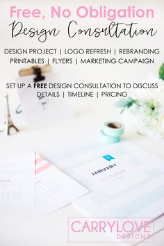 Free Graphic Design Consultation | Carrylove Designs | Carrylove the Blog