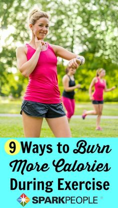 Super easy ways to burn more cals in less time! | via @SparkPeople #fitness #workout #noexcuses
