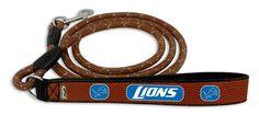 Detroit Lions Football Leather Leash - L