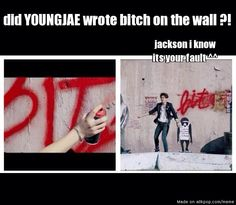Yeah jackson, what happened to the innocent youngjae?