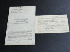 For your consideration is a Lovely, Vintage Set of (2) Items: Mail & Censorship Regulations ,June 1918 by US Naval Forces Operating in European Waters