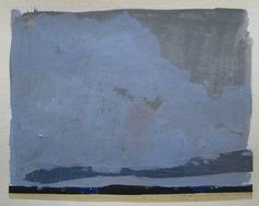 Sling Original Summer Sky Landscape Collage Painting by Paintbox