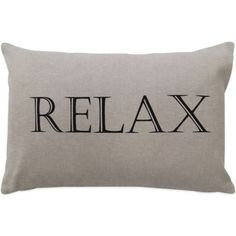 """The Vintage House by Park B. Smith® """"Relax"""" Oblong Throw Pillow - BedBathandBeyond.com"""