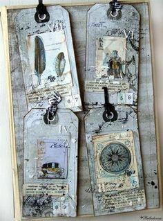 whoooooooooooa! Look at this AMAZING altered book page by Belladonna using Destination Unknown. WOW