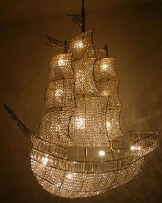 Ship Chandelier  -  Perfect gift for the pirate in my life!