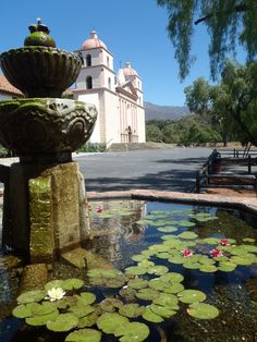 "Mission Santa Barbara, California, also known as the ""Queen of the Missions""."