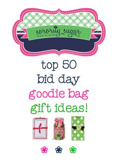 🎉 Building the ultimate bid day goodie bag! 🎉 Q: I was wondering what would be some good items to put in a bid day goodie bag? A: First select a super cute tote bag and then select your favorite. Bid Day Gifts, Kappa Delta Chi, Bid Day Themes, Best Gifts For Mom, Sorority Life, College Fun, Goodie Bags, Spring Recruitment, Rush Week