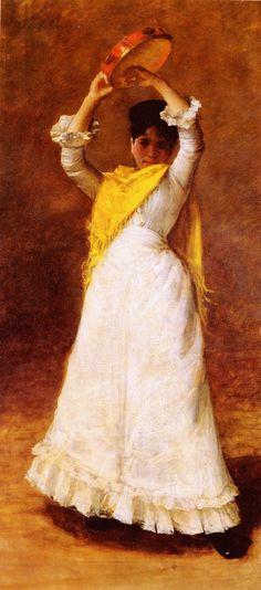 The Tamborine Girl by William Merritt Chase