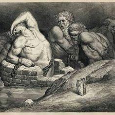 Efialte: Filho de Netuno. Foi um gigante que, junto com o gigante Otus, ameaçou os deuses tentando empilhar as montanhas Olimpo, Ossa e Pelion para que pudesse alcançar o céu. (Odisséia, XI) Briareu: Filho da Terra. Foi outro gigante que desafiou os deuses do Olimpo. Homero o descreve como tendo cem braços e cinqüenta cabeças.
