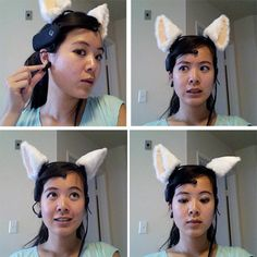 These cat ears read your brainwaves and move in conjuction with your mood.