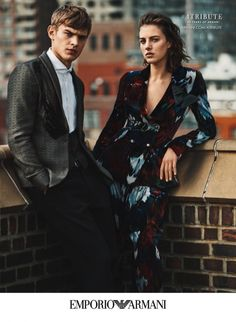British model Eliza Cummings lands the fall-winter 2015 campaign from Emporio Armani