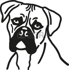 German Boxer Dog Head More Information Color Pages Printable