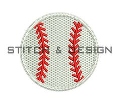 BASEBALL Embroidery Design ~3 SIZES Instant Download Design NO:009