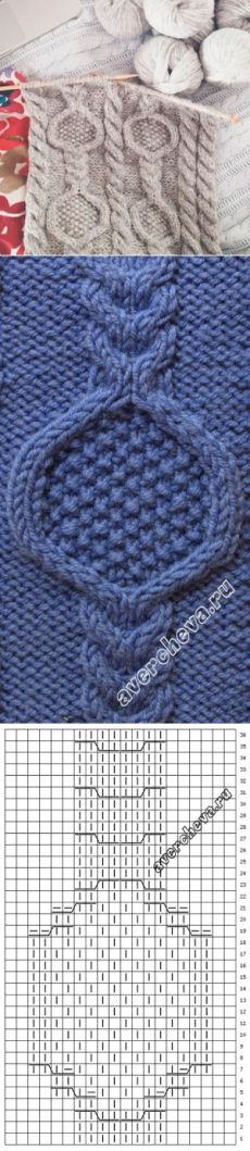 Узор к шарфу | каталог вязаных спицами узоров