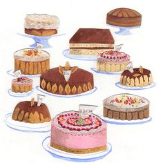 food illustration patisserie