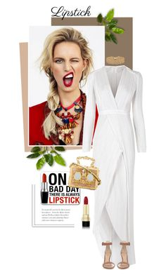 """""""Red Lipstick"""" by pippi-loves-music ❤ liked on Polyvore featuring Galvan, Gianvito Rossi, Dolce&Gabbana, Lele Sadoughi and REDLIP"""