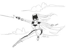 Some Louie Del Carmen Lines for a Batgirl..