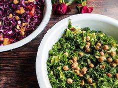 Grønkålssalat med avocado, æbler og tahin dressing? Få opskriften er verdens bedste salat med grønkål - og 50 andre sunde salater.