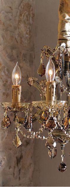 ༺ღ༻Beautiful Gold Chandelier Chandelier Bougie, Chandelier Lighting, Gold Chandelier, Bathroom Chandelier, French Chandelier, Crystal Chandeliers, Antique Chandelier, Antique Lighting, Lamp Light