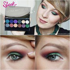 Nádherná paletka silne pigmentovaných očných tieňov Sleek iDivine Ultra Matte V2.