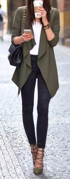perfect workwear wearing black skinnies