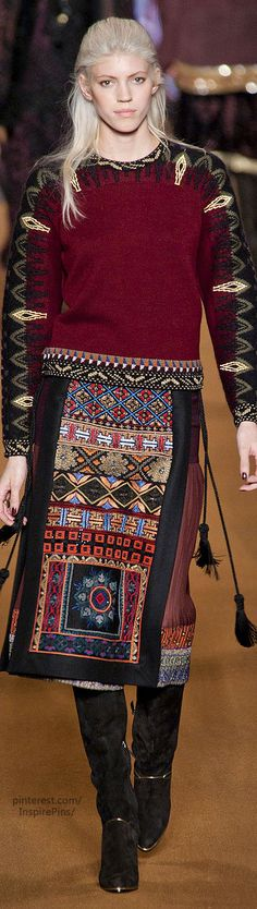 Etro / Fall 2014 / RTW / Etro Collection / High Fashion / Ethnic & Oriental / Carpet & Kilim & Tiles & Prints & Embroidery Inspiration /