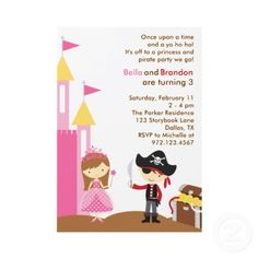 53 best birthday invitation inspiration images on pinterest cute princess and pirate birthday party invitations filmwisefo