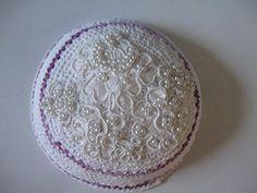 Lavendar and White Kippah Yarmulke with Bridal Lace Pearl Applique null http://www.amazon.com/dp/B00PG4GX74/ref=cm_sw_r_pi_dp_G.2twb0CB8WFP