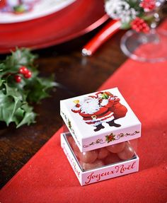 "Geschenkboxen ""Joyeux Noel"" 4er Pack #Geschenkverpackung #Weihnachtsgeschenk #Wichtelgeschenk #Mitgebsel #Weihnachtsfeier"