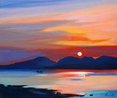 Scottish Artist Pam CARTER-Home Before Sundown