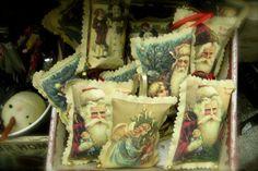 Bethany Lowe Victorian Pillow Ornaments    Heidi's Cottage, Dunellen NJ heidiscottage.com for more info