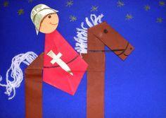 shape knight and horse Kindergarten Portfolio, Teaching Kindergarten, Art Activities For Toddlers, Preschool Activities, Hl Martin, Chateau Moyen Age, Castle Crafts, Art For Kids, Crafts For Kids